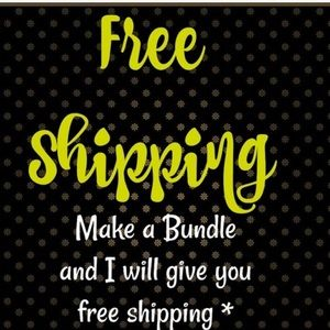 Bundle 2 or more items for FREE SHIPPING